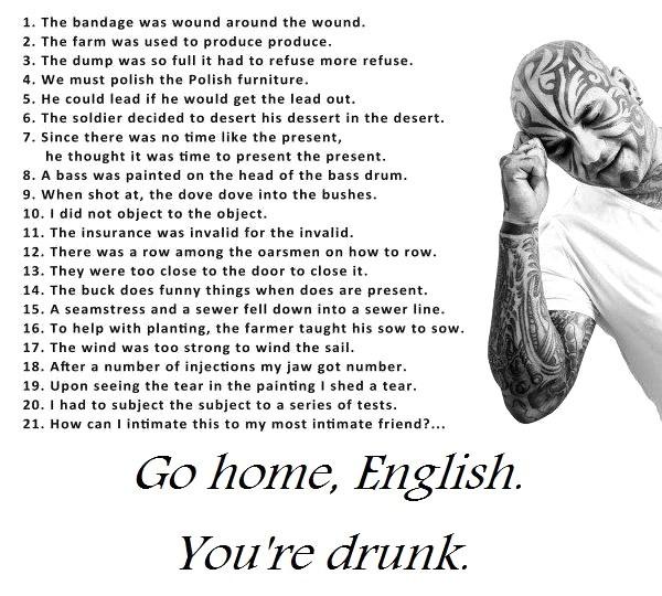 Go Home, English