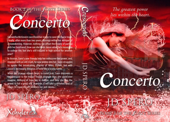 Concerto by JD Spero, full spread cover